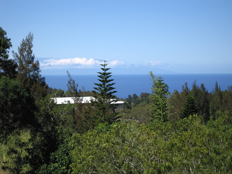 It was clear enough that we could see Haleakala, across the water on Maui.