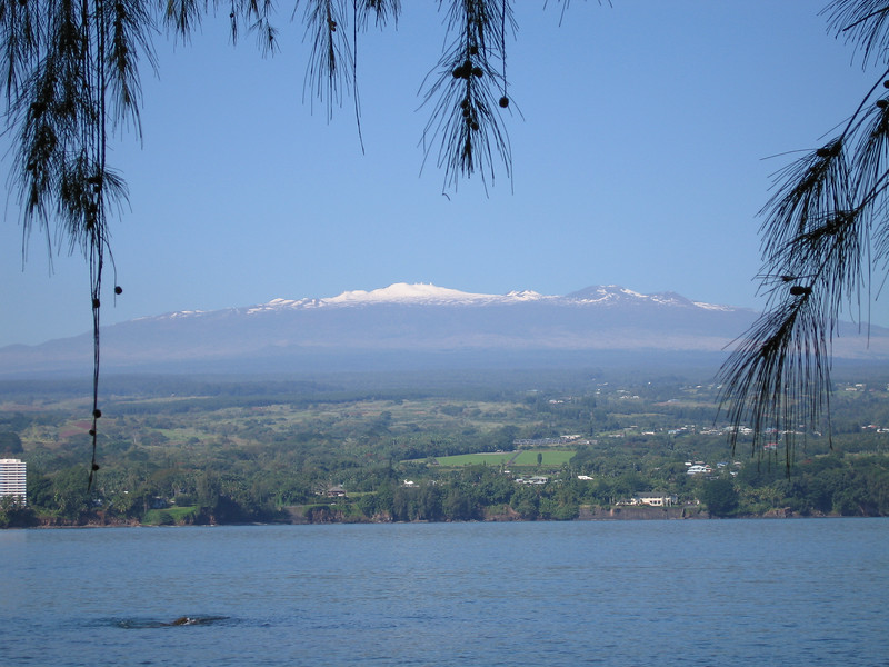 Another view of Mauna Kea. We could clearly see the white domes of the telescopes on the peak.