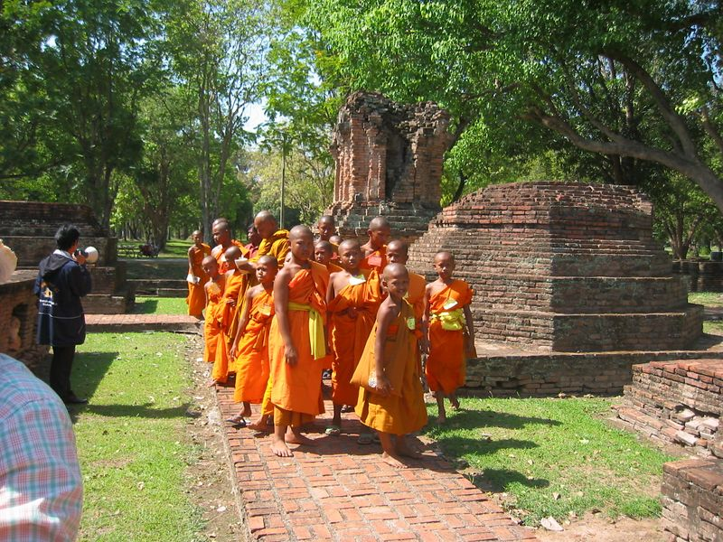 Almost all men in Thailand spend some period of time as a monk.