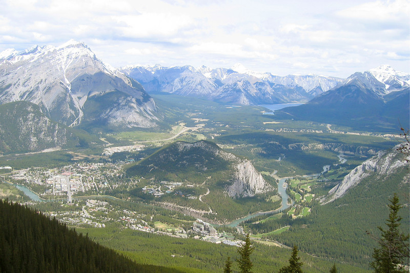 AROUND BANFF: Banff seen from a surrounding mountain accessible by gondola.
