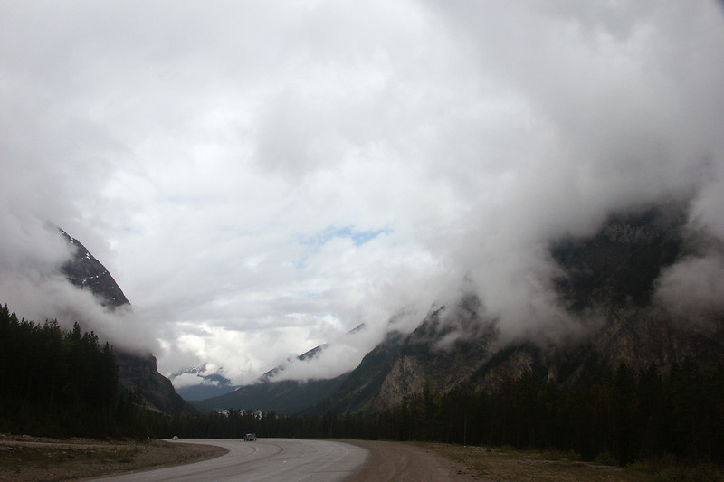 ROADS THROUGH THE ROCKIES: There are those clouds again.