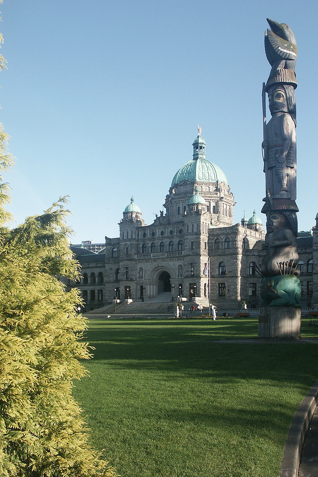 Parliament building in Victoria, the capital of British Columbia.