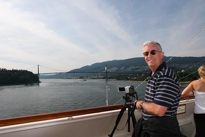 VancouverChrisFilmingLionsGateBridge
