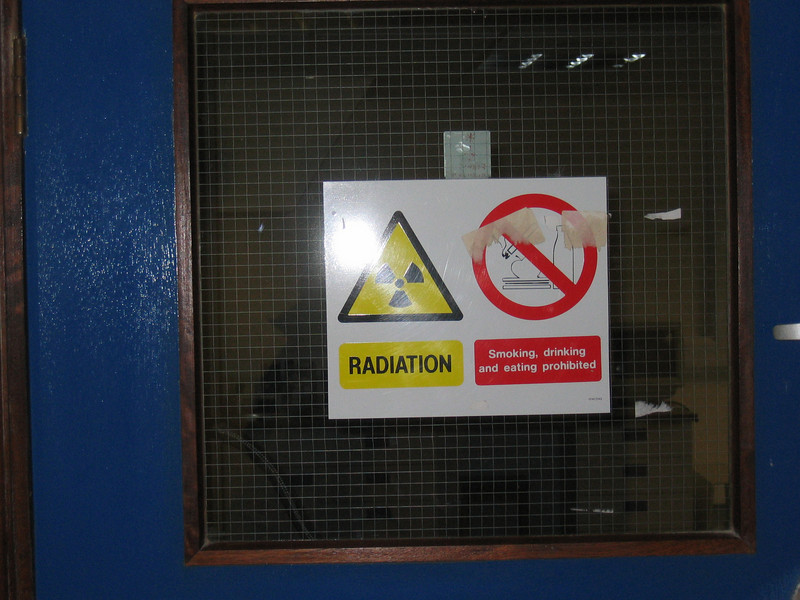 One should be scared that Richard worked in a lab with a sign like this...