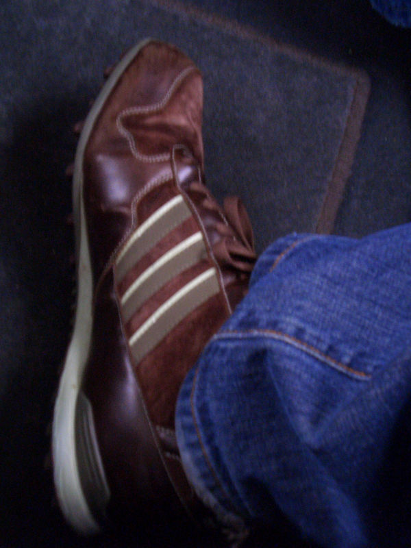 My shoe at 12,000 feet.