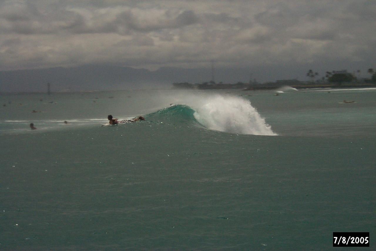Kaiser's surfing area.