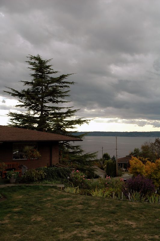 The view of Puget Sound from Jo and Elmers house.
