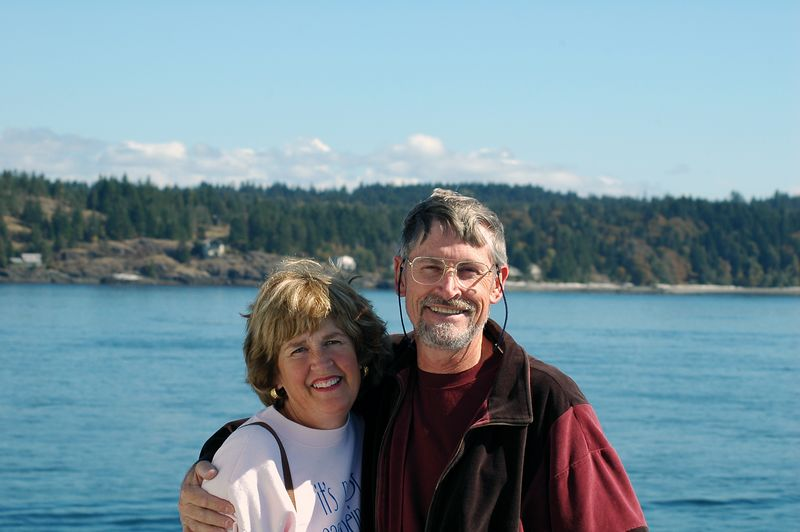 Mom and John on the ferry to Quadra Island.  This one was only 10 minutes long.