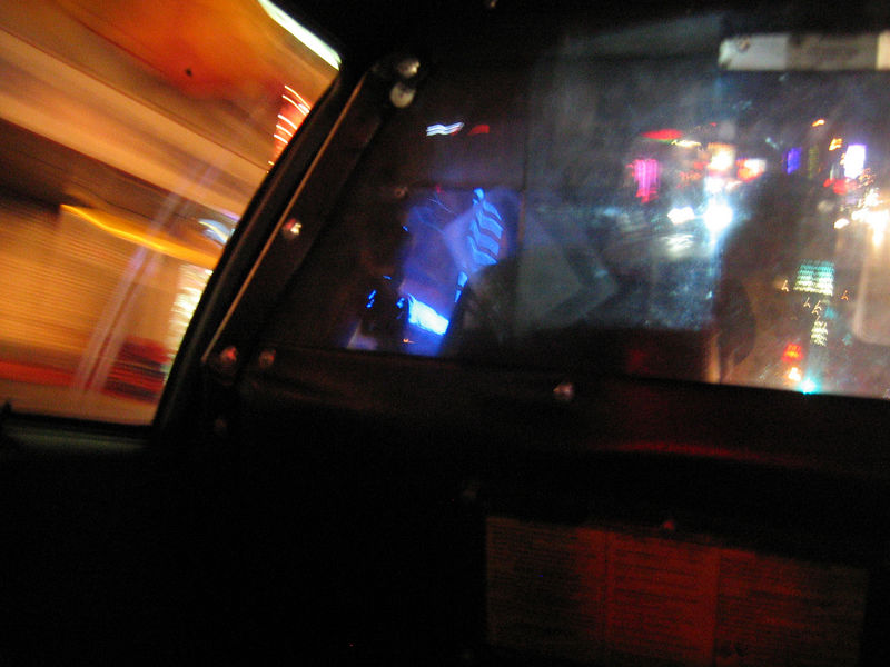 great view from an authentico NYC cab