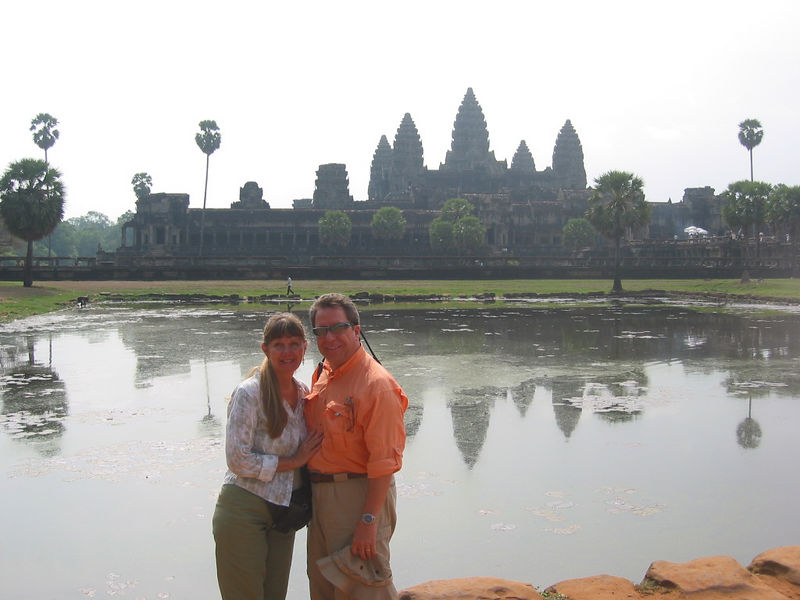 Pam and I first visited Angkor Wat in April of 2005.  It was a cloudy morning and the lighting was all wrong.