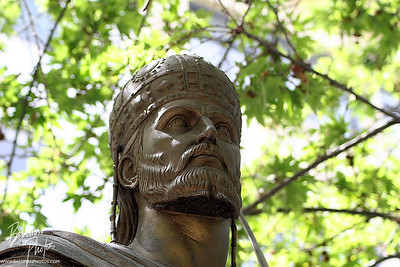 Greek Statue  Unfortunately, did not get a copy of the plaque at the bottom so I can't tell you who it is...