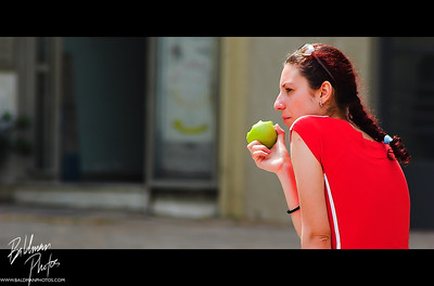 Girl at Plaza in Athens