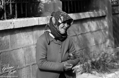 Lady on Aegina  This lady was walking around the streets of Aegina