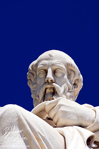 Plato  Plato looking towards the population from the Athens Academy