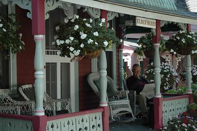 Cute little neighborhood and very touristy. Martha's Vineyard, Mass.