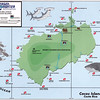 Dive sites around Cocos Island.