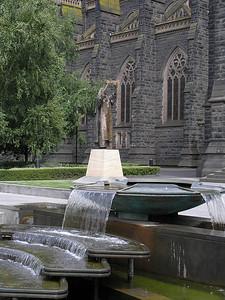 Fountain at Saint Patrick's Cathedral