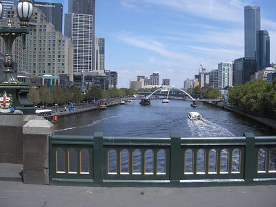 Yara River at Federation Square bridge