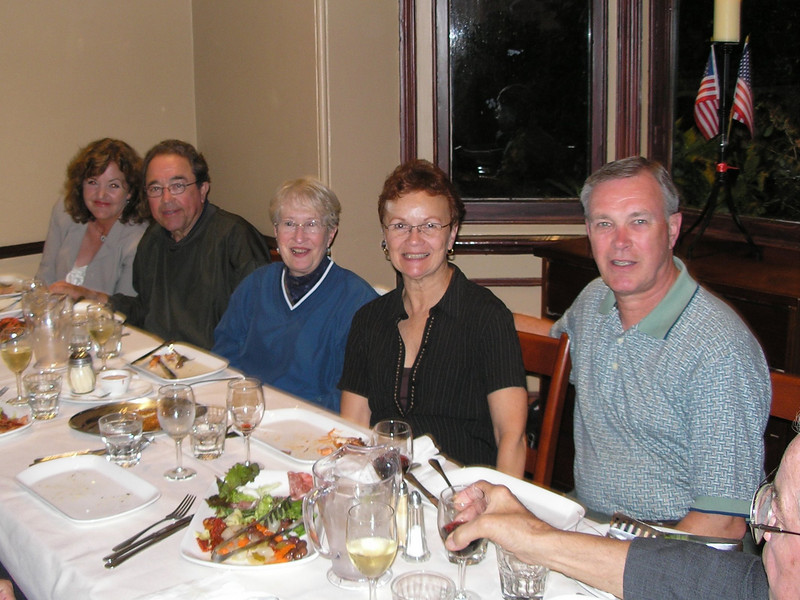 Sharon Gaughan; Jim & Ann Buck; Vadis & Dwaine; Wolf Merel - Farewell dinner