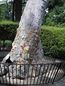 Tree art in Fitzroy Gardens - at Model Tudor Village