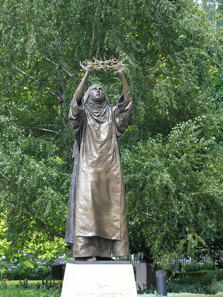Statue of St. Catherine - Saint Patrick's Cathedral