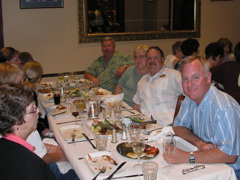 Wilbur Brown; Betty & Bob Walko; Steve Snider - Farewell dinner
