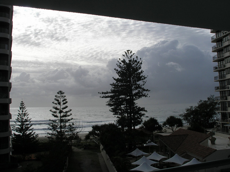 Morning View of Coral Sea at Surfers Paradise