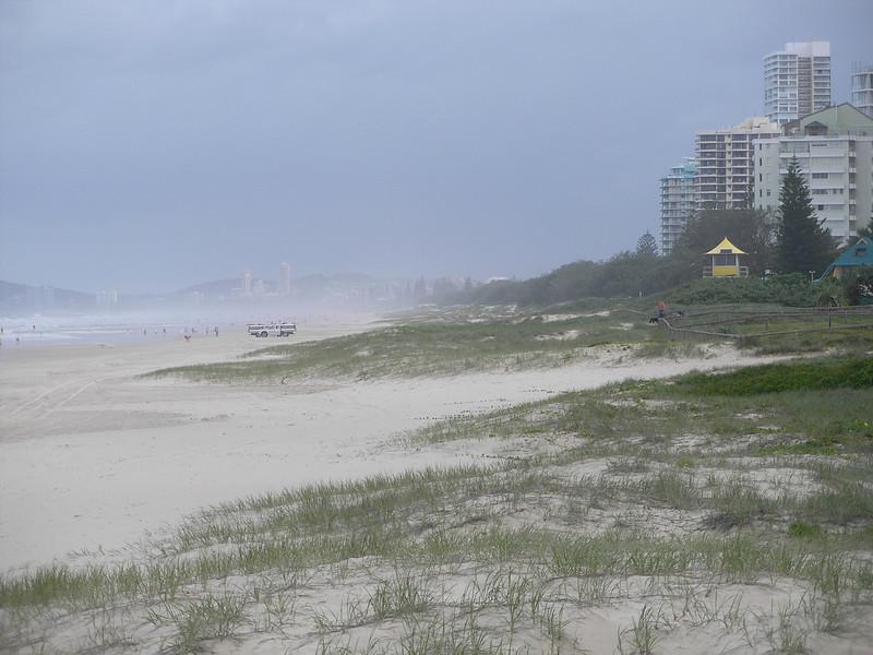 Windy day  provides haze
