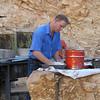 Cowboy Bob making Billy Bread