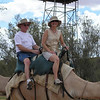 Riding on the camel