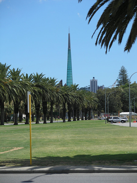 Greenway leading to Swan Bell tower