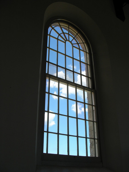 View from inside prison chapel