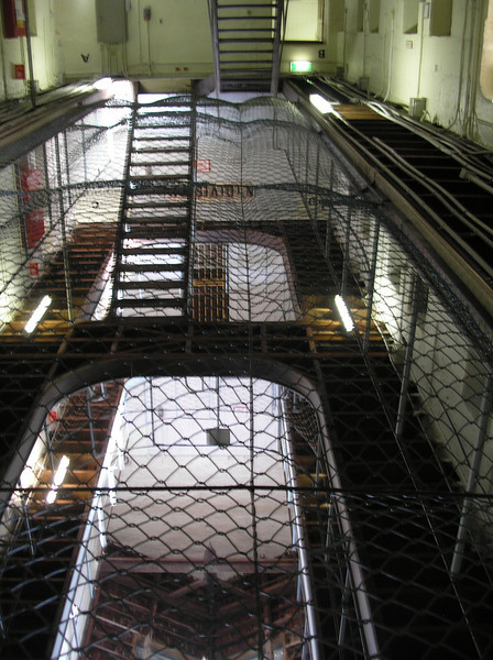 Fremantle Prison galley - Suicide net on 2nd level