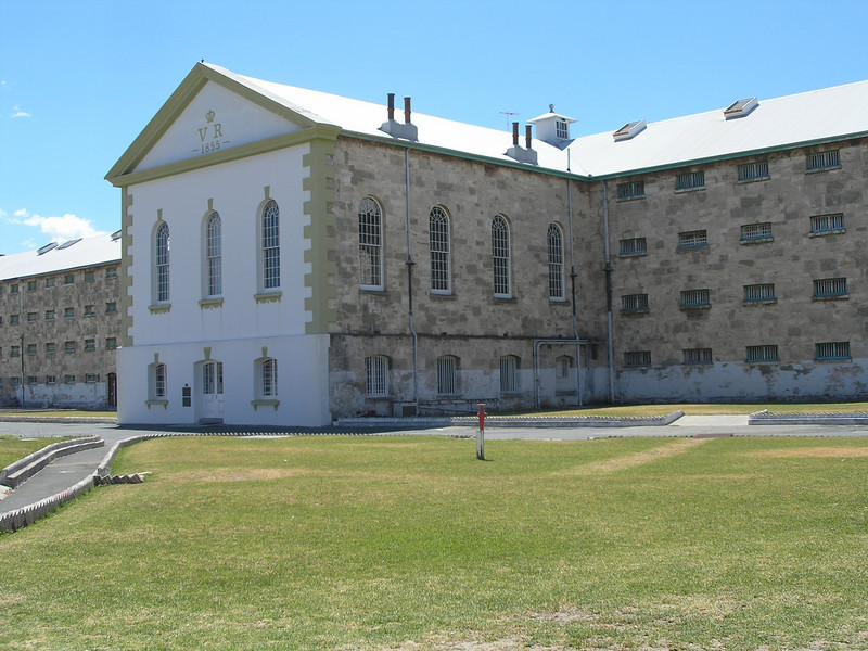 Fremantle Prison yard - chapel area