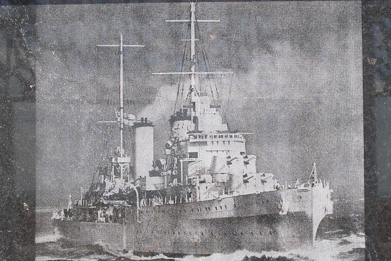 HMAS Sydney - engraving at memorial