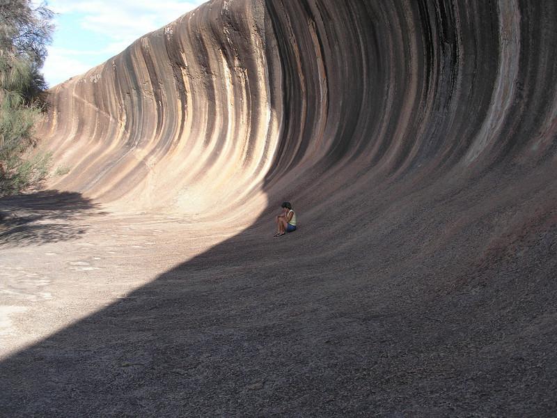 Vadis sitting on the wave