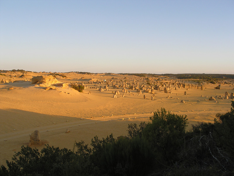 Pinnacles near sunset