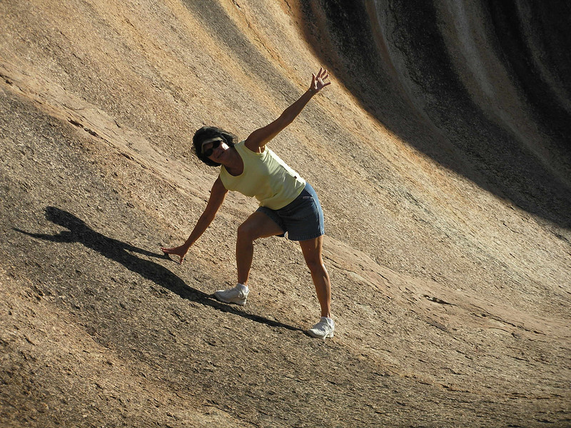 Vadis making her move on Wave Rock
