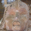 Totem being carved at Maori Cultural Center