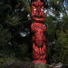 Totem in Maori Cultural Center