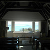 View of Lake Tapeko from inside Church of the Good Shepherd