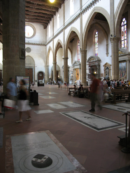 The tombs of  Santa Croce
