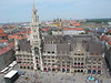 The New Town Hall and Square from the top of Peterskirche