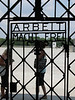 "Dachau: Main Entrance Gate.  ""Work will set you free"""