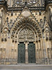 The entrance doors to St. Vitus Cathedral