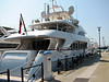 The Lady Sisa is one impressive yacht.  It has four decks and runs 120 feet in length.