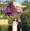 Deni and Pam couldn't get enough of the colorful bougainvillea  plants decorating the homes.