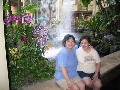 Jo and Gena at the Hyatt