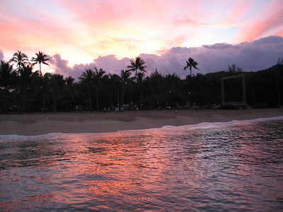 sunrise at Waikiki