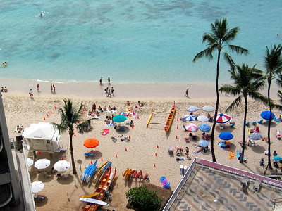 beach view from the Outrigger lanai